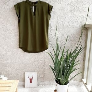 Olive Green Express M Blouse